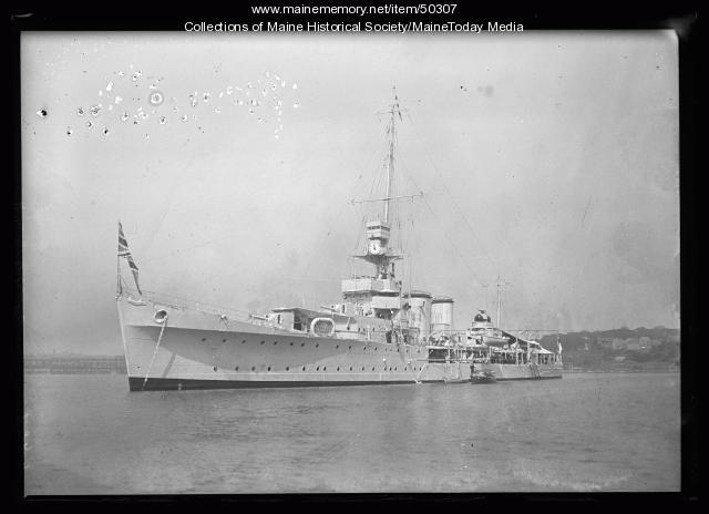 HMS Calcutta Naval Vessel, Casco Bay, Portland, 1920