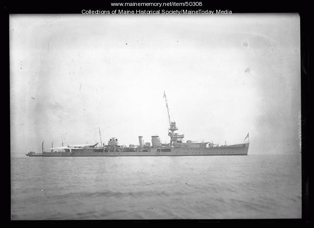 HMS Calcutta for Maine Centennial Celebration, Portland, 1922