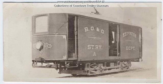 Baggage car, Bangor, ca. 1915
