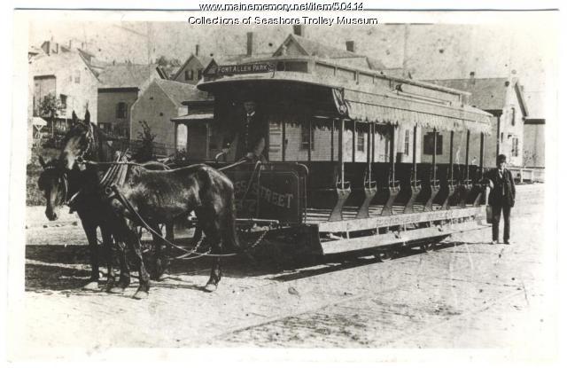 Horse car #87, Portland, ca. 1885