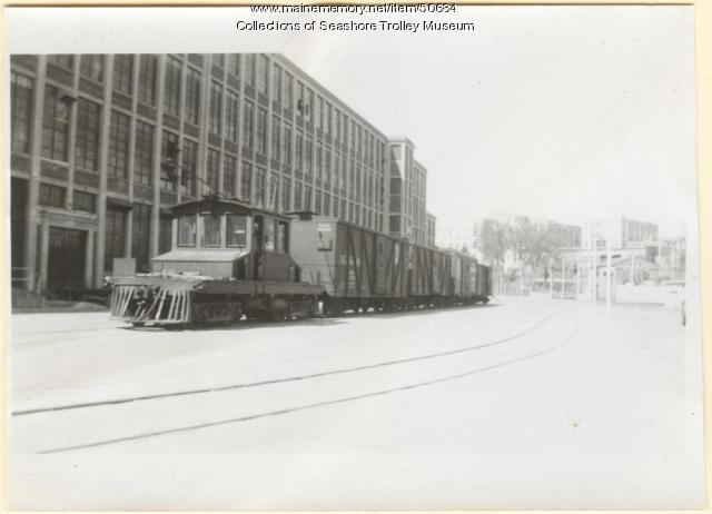 Atlantic Shore Line Locomotive #100, Sanford, ca. 1930