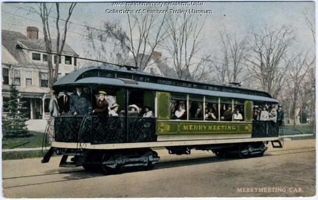 """Merrymeeting"" parlor car, Lewiston, ca. 1915"