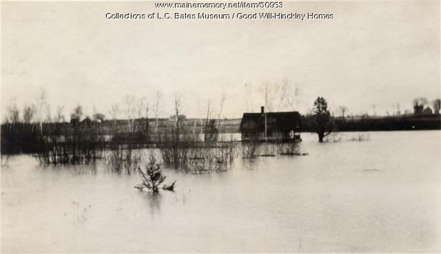 Kennebec River Flood, Fairfeld, ca. 1925