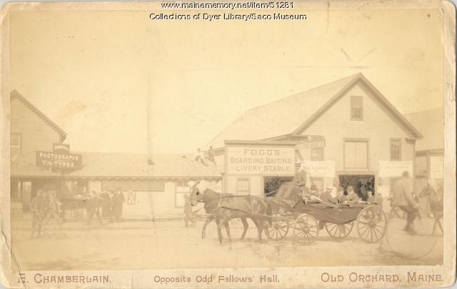 """Opposite Odd Fellows' Hall,"" Old Orchard Beach, ca. 1900"