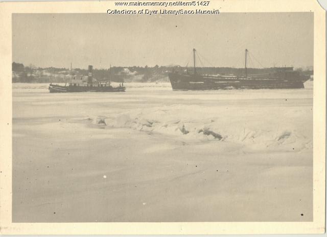 Tugboat on Saco River, 1923