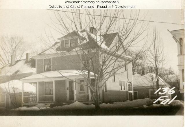 136 Falmouth Street, Portland, 1924