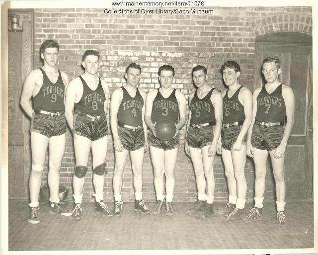 Church League Basketball Team, Saco and Biddeford, ca. 1938