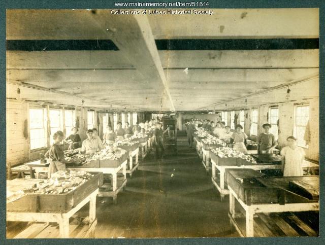 Sardine packers, Lubec, ca. 1920