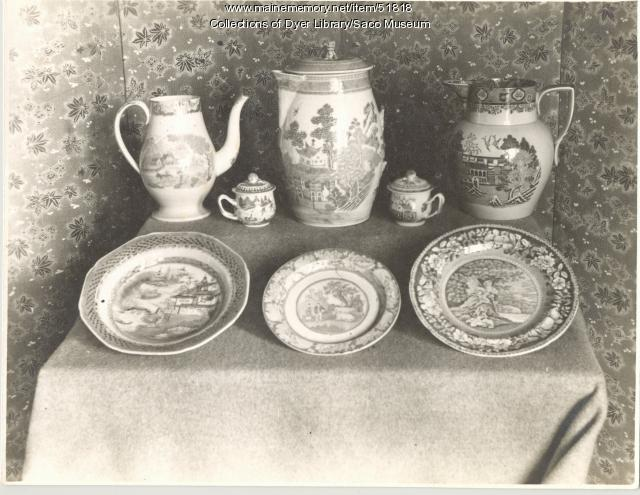 China dishes, Saco, 1907