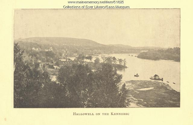 """Hallowell on the Kennebec,"" ca. 1912"