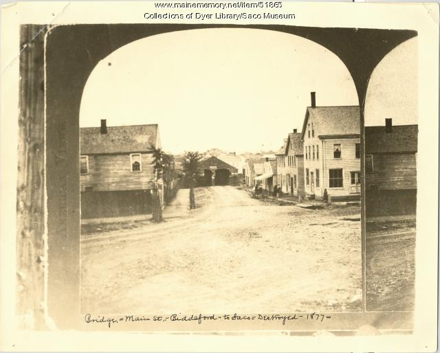Biddeford-Saco Bridge, prior to 1877