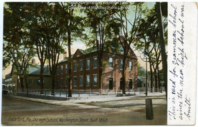 Old Biddeford High School, Washington Street, ca. 1910