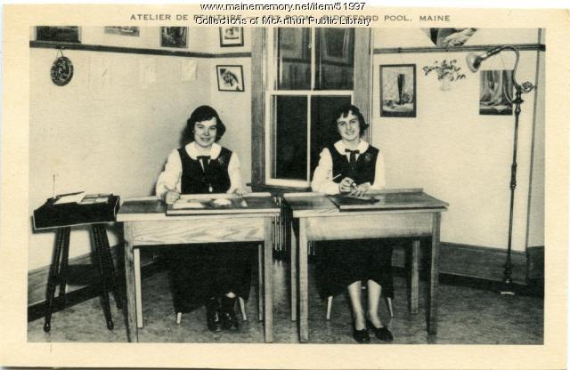 """Atelier de Peinture"" at Marie-Joseph Academy, Biddeford Pool, ca. 1950"