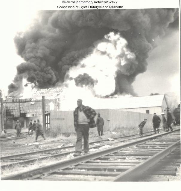 Richfield Oil Fire, Saco, 1953