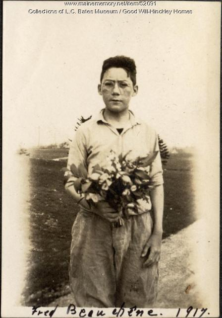 Fred Beauehene, Fairfield, 1917