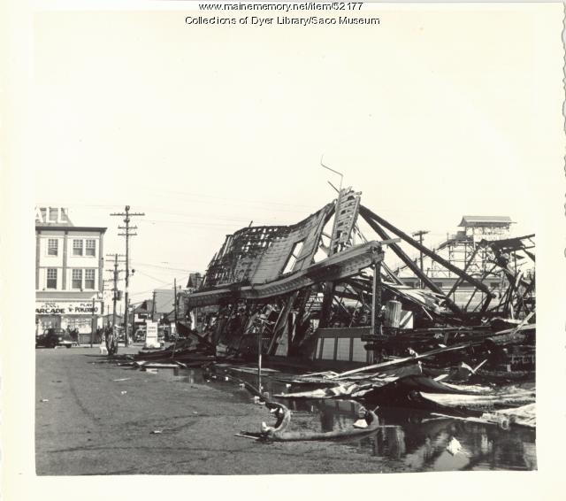 Amusement Park wreckage, Old Orchard, 1948