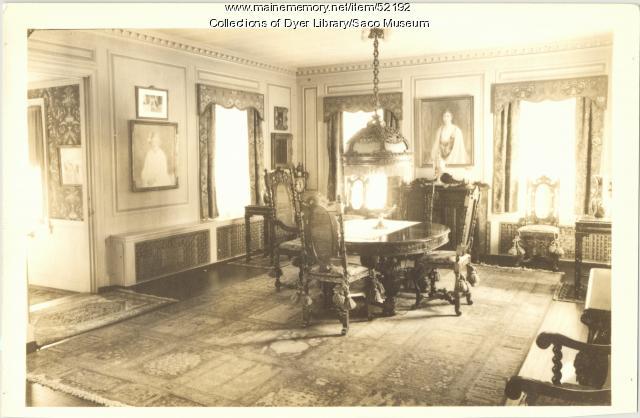 Deering Family Dining Room, Saco, 1937