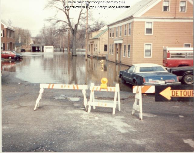 Maple Street, Spring Island, Saco Flood, 1987