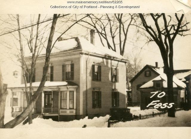 70 Fessenden Street, Portland, 1924