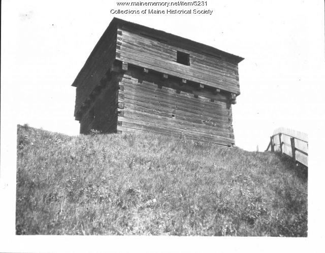 Fort Halifax Blockhouse, Winslow, ca. 1920