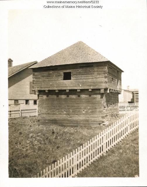Fort Halifax Block House, Winslow, ca. 1920