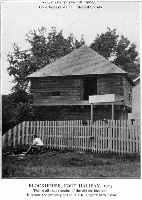 Block house, Fort Halifax, 1924