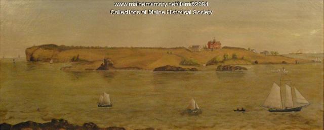 Cushing Island, Portland Harbor, ca. 1870