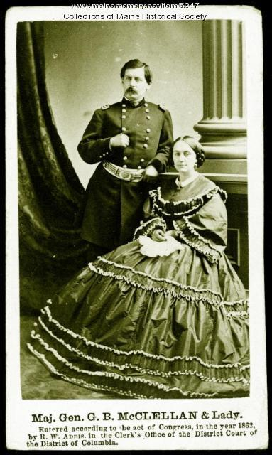 Major General G. B. McClellan and wife, 1862