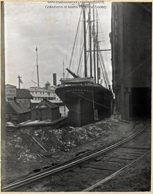 "Schooner ""John F. Randall,"" Portland, ca. 1900"