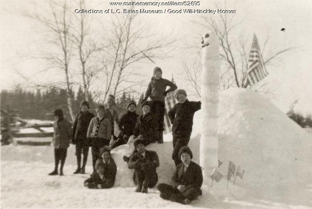 Good Will Boys with Igloo, Fairfielld, ca. 1945