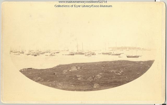 Ships at Biddeford Pool, ca. 1890