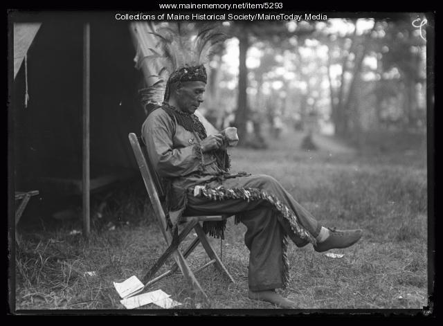 Maine Indian man, Portland, 1920