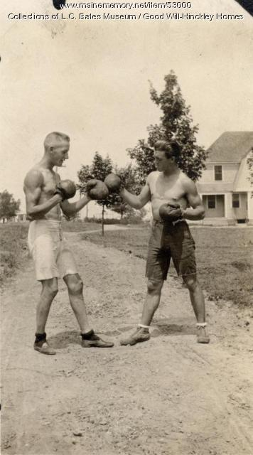 Staged boxing, Fairfield, ca. 1920