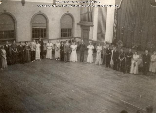 Student gathering, Fairfield, ca. 1930