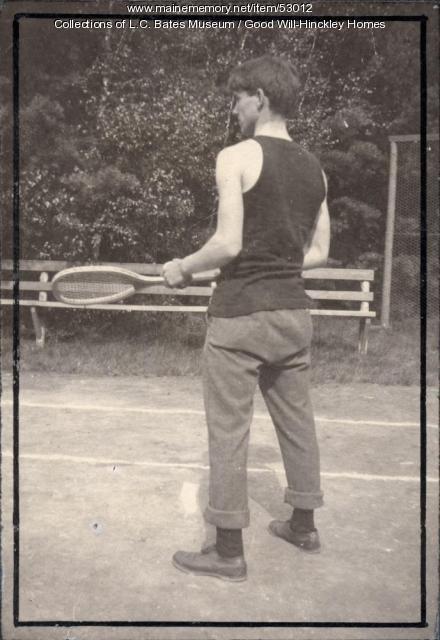 Tennis player, Fairfield, ca. 1930