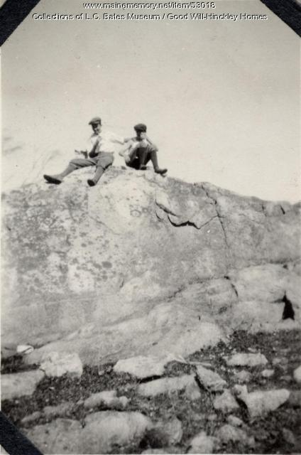 Good Will boys at Goodrich Hill, Canaan, 1917