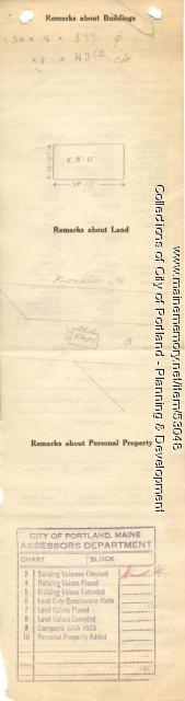 Assessor's Record, 240 Franklin Street, Portland, 1924