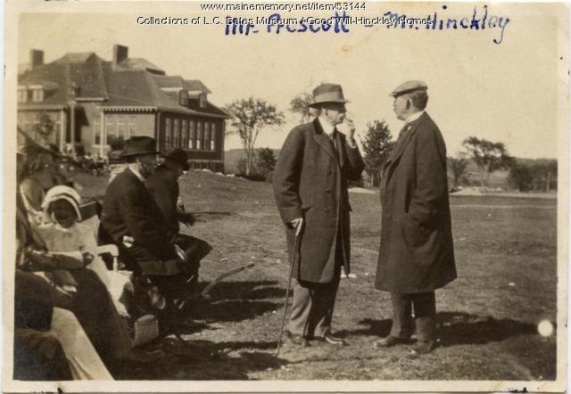 Amos Prescott and George Walter Hinckley, Fairfield, ca. 1920