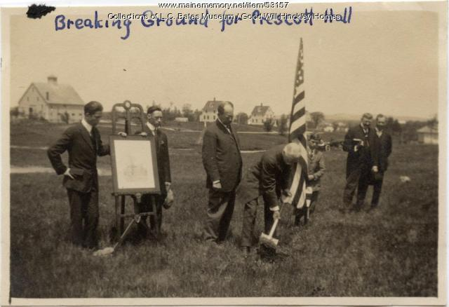 Ground breaking for the Prescott building, Fairfield, 1915
