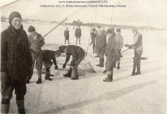 Ice Cutting, Fairfield, ca. 1925