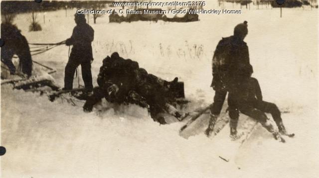 Horse-drawn Snow Plow, Fairfield, ca. 1920