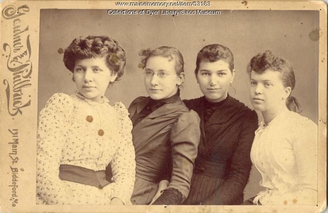 Marsh and Milliken Sisters, Saco, ca. 1895