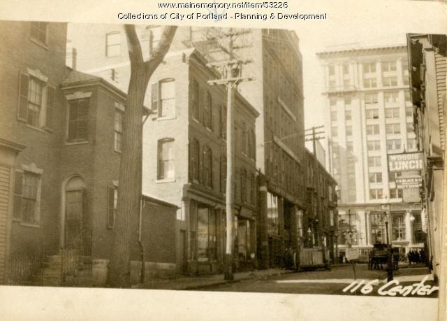112-118 Center Street, Portland, 1924