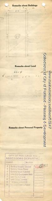 Assessor's Record, 15-19 Spring Street, Portland, 1924