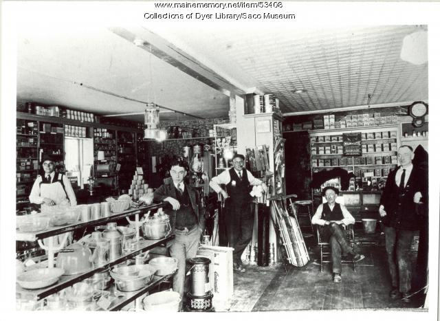 Bill Vinton's Drugstore interior, Saco, ca. 1930