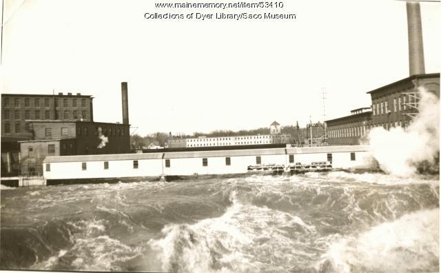 Garland Manufacturing & Saco River, Saco, 1936