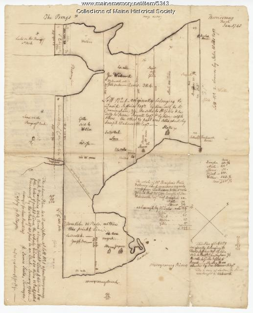 Maine Memory Network  Harpswell Lot 1 1743 Map 63