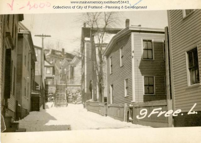 17-19 Freeman Street (called #9, Portland, 1924