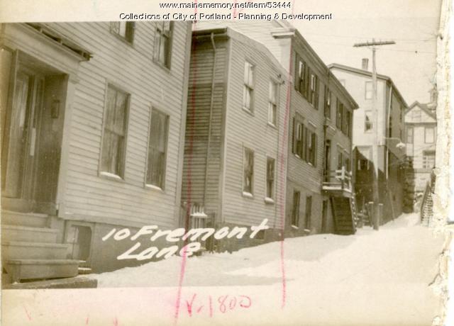 20Freeman Street (called #10), Portland, 1924