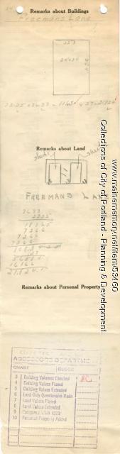 11-15 Freeman Lane (called #7), Portland, 1924